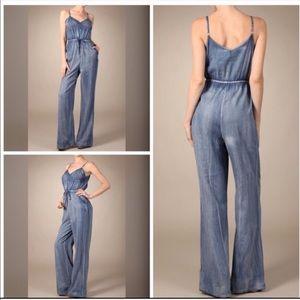 Denim - Cute wide leg Denim jumpsuit